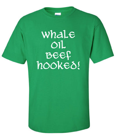 whale oil beef hooked pint pub Drunk saint st Patrick's beer ireland scottish adult T-Shirt Tee Shirt Mens Ladies Womens mad labs ML-300