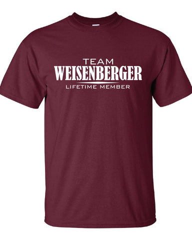 Team Weisenberger Lifetime Member Clothing family pride best last name mens ladies Funny t-shirt tee shirt cool dope winning sports ML-353