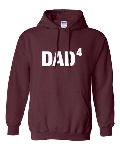 Dad4 Dad to the power of four hoodie ML-376h