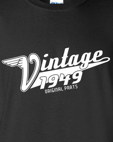 Vintage Made In 1949 (Or Any Year) Original Parts 65Th Birthday Printed Graphic T Shirt Only Here New Style For 65 years Gift ML-379