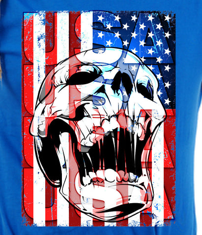 USA T-shirt tee Shirt United States Pride 4th of July America Merica cool skull gift support great nation Mens Ladies swag MLG-1010