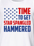 Time To Get Star Spangled Hammered Tank Top 4th of July MLG-1039