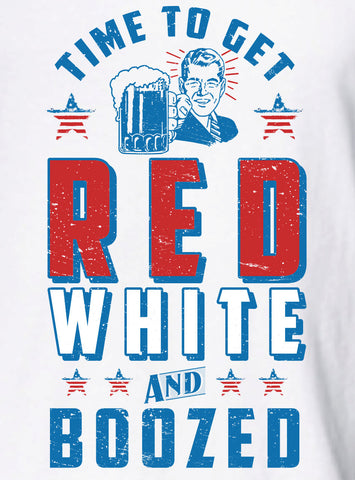 Time To Get Red White and Boozed Tank Top 4th of July MLG-1038