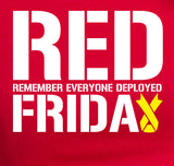 RED FRIDAY remember everyone deployed T-Shirt MLG-1040