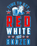 Time To Get Red White and Boozed Tank Top 4th of July MLG-1038FIA