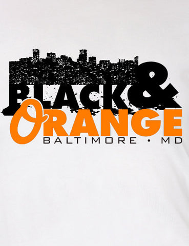 Black and Orange Baltimore T-shirt MLG-1044