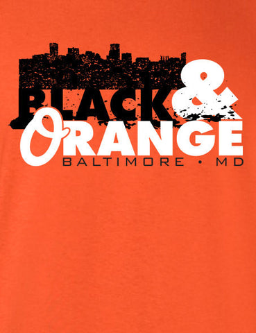 Black and Orange Baltimore T-shirt MLG-1043