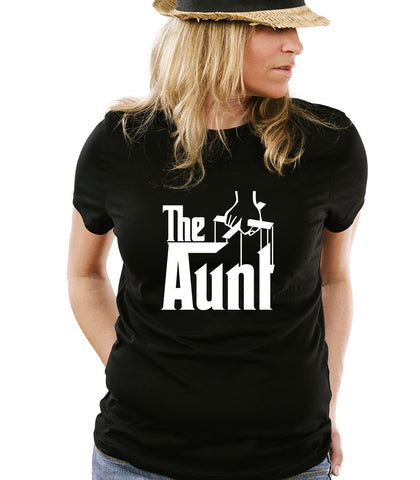 The Aunt T-Shirt Aunty Auntie - Godmother - Gift for Godmother - Nephew Niece - New Baby Tee Shirt Tshirt Mens Womens Kids MADLABS ML-457