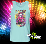 Party Starter Retro 80s Panda DJ Tank Top MLG-1060