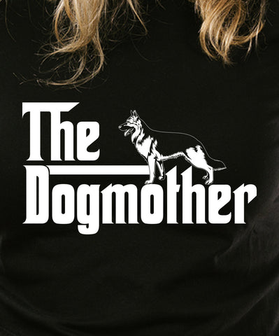 The Dogmother German Shepherd T-shirt Gangster Swag Vintage movie inspired T-shirt tee Shirt 70s 80s summer Hot  Mens Ladies cool MLG-1069