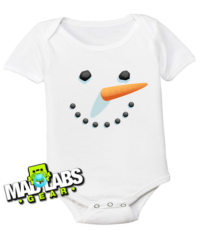 Frosty the Snowman first Christmas Rudolph cute funny baby one piece non-toxic, water-based inks jumper Bodysuit Creeper Dirty B-15