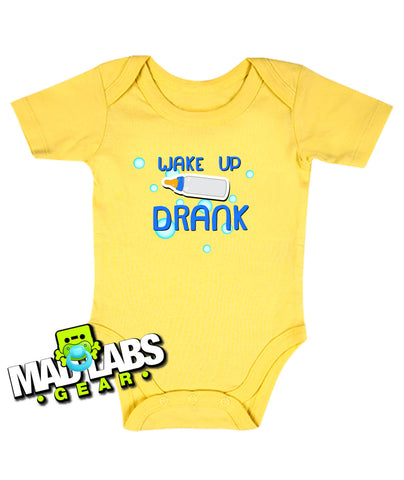 Wake up Drank Baby Body Suit Creeper cute funny baby one piece non-toxic, water-based inks jumper Bodysuit Creeper Dirty B-19