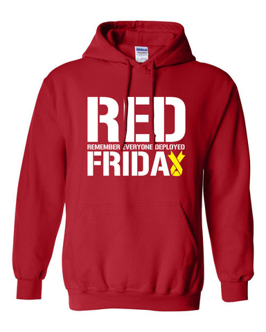 RED FRIDAY remember everyone deployed usaf Marines usmc soldier semper fi hoodie hooded sweatshirt Mens Ladies Womens support mad MLG-1040