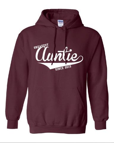 Greatest Auntie since 2015 Hoodie ML-514