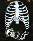 Skeleton Baby Boy Halloween Cute maternity pregnant mom infant shower gift T-shirt tee Shirt Baby boy Funny Ladies cool MLG-1084