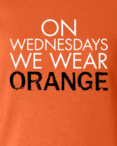 On Wednesdays We Wear Orange Litchfield T-shirt Inspired 50s 60s 70s T-shirt tee Shirt TV show swag Hot Funny Mens Ladies MLG-1098