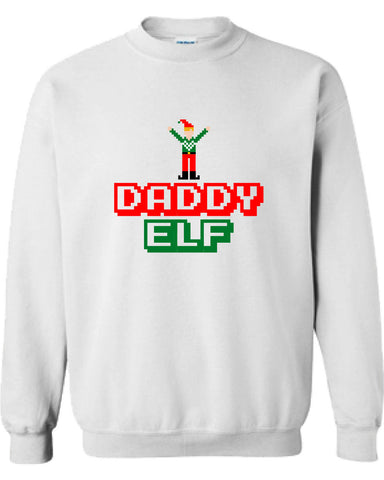 Daddy Elf Merry Christmas swag T-shirt tee Shirt TV show hipster Mommy ugly sweater sweatshirt hoodie Hot Funny Mens Ladies cool MLG-1099