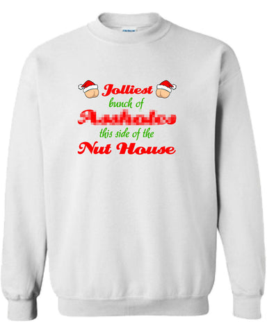 Christmas Vacation Jolliest Bunch Of Assholes This Side Of The Nut House Sweater Shirt Hoodie ugly Funny Mens Ladies cool MLG-1102