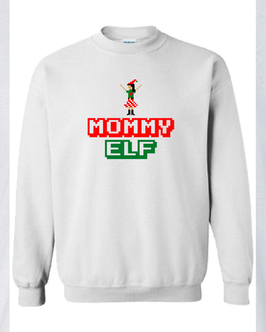Mommy Elf Merry Christmas swag T-shirt tee Shirt TV show hipster Mommy ugly sweater sweatshirt hoodie Hot Funny Mens Ladies cool MLG-1101