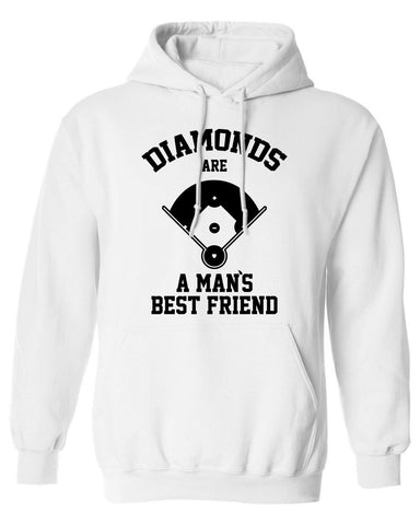 Diamonds Are A Mans Best Friend baseball softball Hoodie ML-542