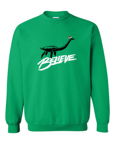 Believe Loch Ness Monster Santa Crewneck Sweatshirt MLG-1108