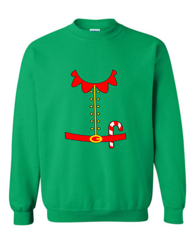 Elf Costume Santa Sweater Tshirt buddy the elf Shirt T-shirt Hoodie ugly Funny Mens Ladies cool MLG-1110