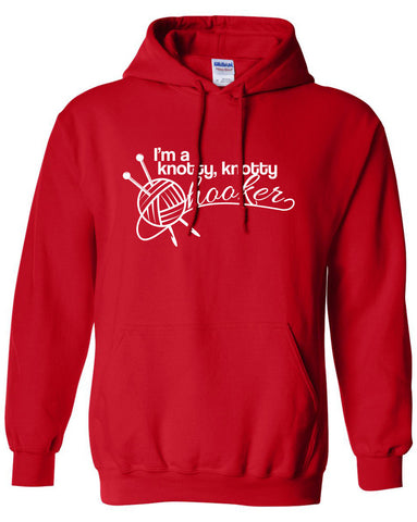 I'm a knotty knotty hooker knitting hoodie ML-349h