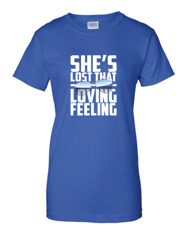 She's Lost That Loving Feeling T-Shirt Aviator Pilot Shirt tee Shirt Mens Ladies Womens Youth Kids ML-554