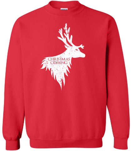Christmas is Coming Reindeer Sweater Sweatshirt Game Santa Christmas Bells Shirt TV show inspired Hot Funny Mens Ladies cool Hoodie MLG-1114