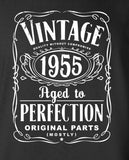 Vintage Aged To Perfection Original Parts Mostly Birthday T-shirt (Any Year) S-YEAR