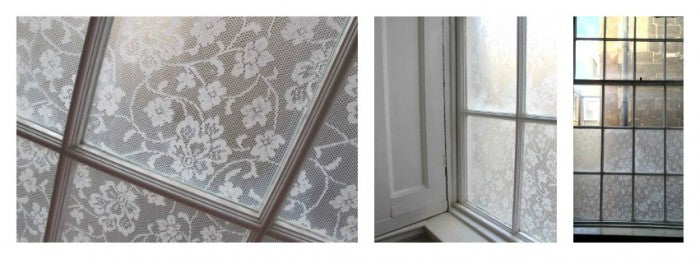 lace window treatment