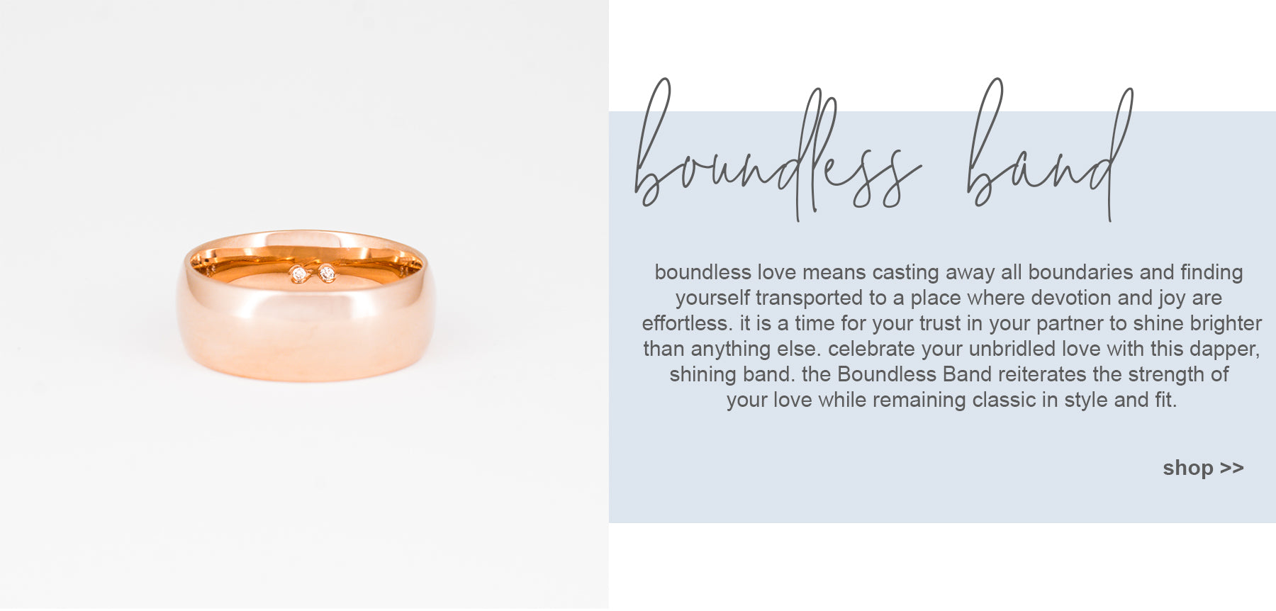 boundless band - 14k gold men's band bluboho