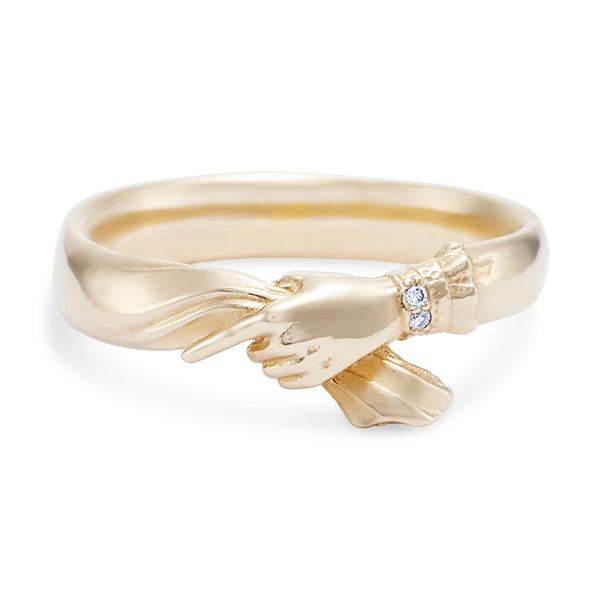 With All Love Ring - 14k Yellow Gold, White Diamond