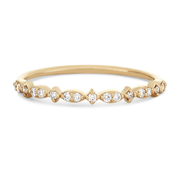 New Lausanne Ring - 14k Yellow Gold, White Diamond