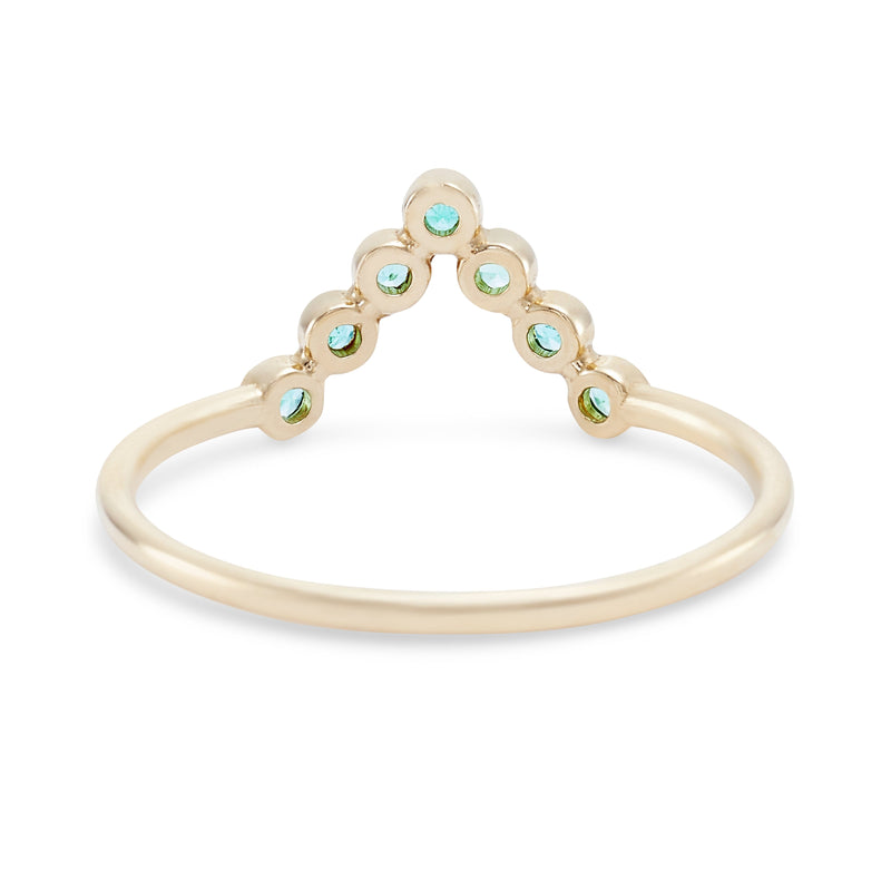 Treetop Forest Ring - 14k Yellow Gold, Emerald