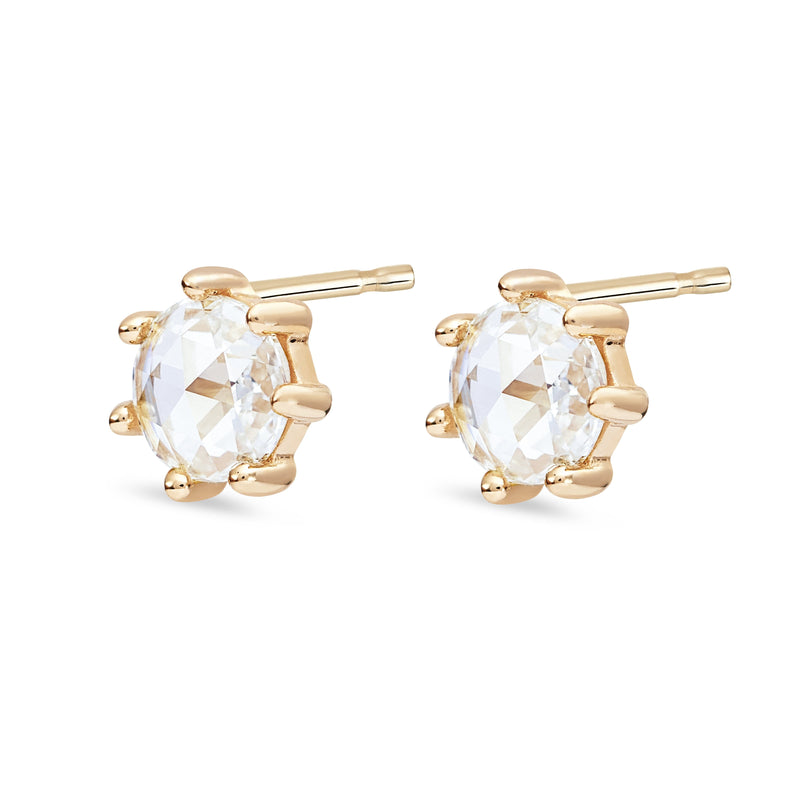 Rose Gold Supernova Earring - 14k Rose Gold, White Diamond