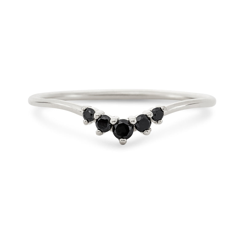 Revelry Ring - 14k Gold, Black Diamond