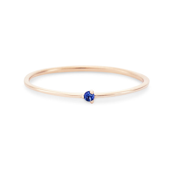 Serendipity Blue Sapphire Ring - 14k Rose Gold, Precious Gems
