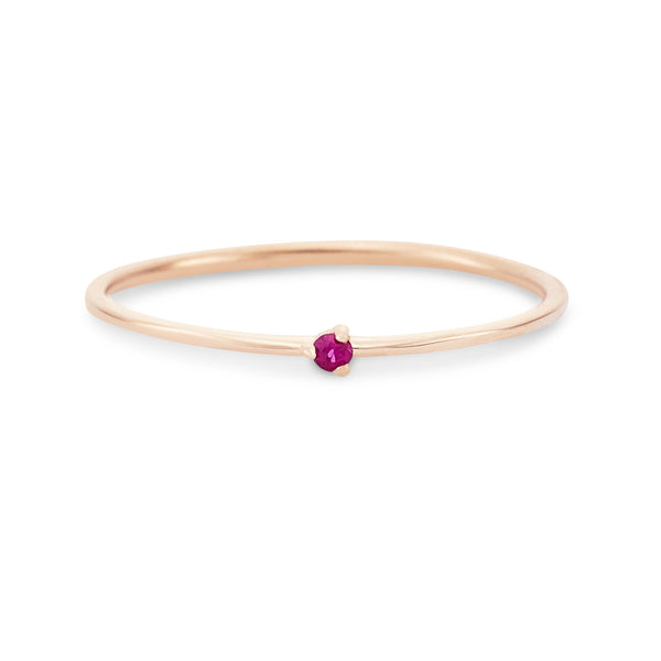 Serendipity Ruby Ring - 14k Rose Gold, Precious Gems