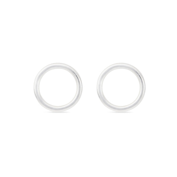 Wire Circle Earrings (Small) - Sterling Silver