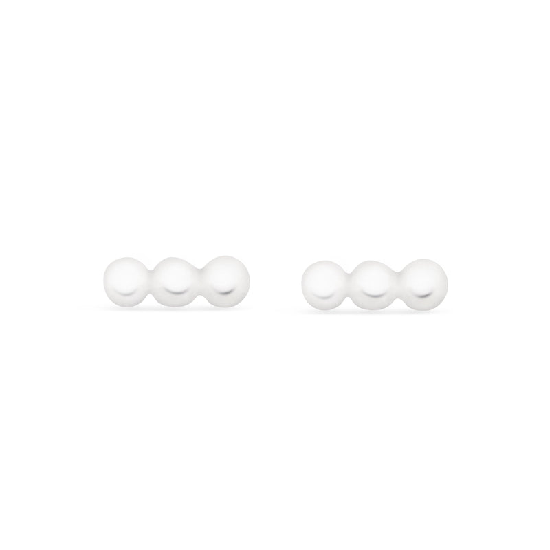 Row of 3 Dots Earrings - Sterling Silver