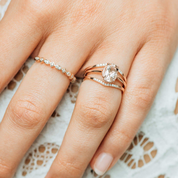 14k Mon Coeur Ring - Rose Gold, Morganite
