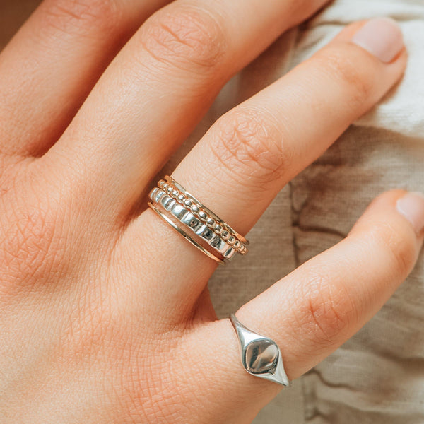 Peaks and Valleys Ring - Sterling Silver