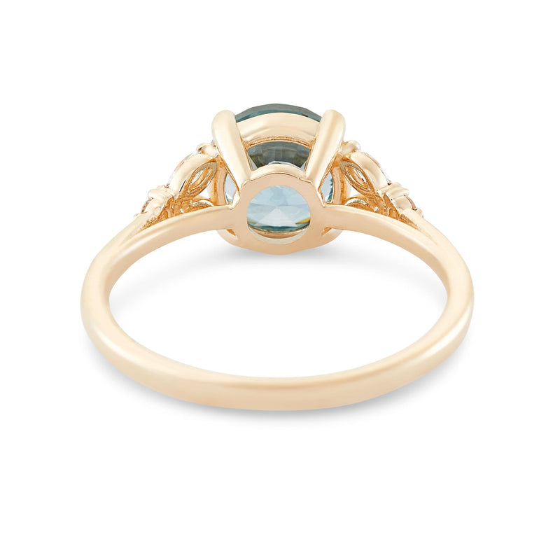 Blue Moon Bay Shades of Blu One of A Kind - 14k Yellow Gold, Artist Cut Sapphire