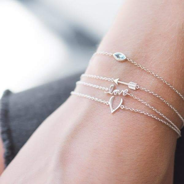 Sterling Silver Tiny Arrow Bracelet