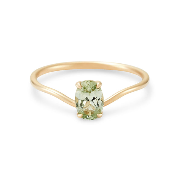 Alula One Of A Kind - 14k Yellow Gold, Celadon Green Sapphire Ring