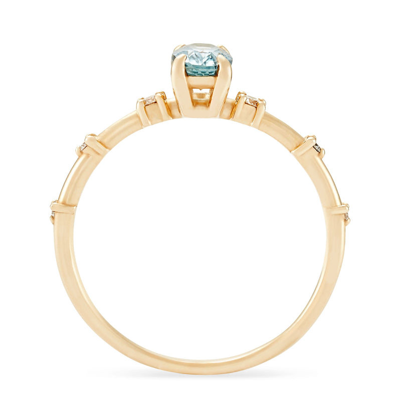 Ara One Of A Kind - 14k Yellow Gold, Sky Blue Sapphire Ring