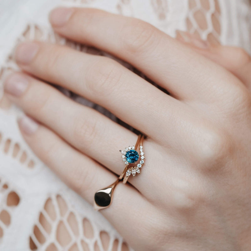 Blue Hour One of a Kind - 14k Yellow Gold, Blue Sapphire Ring