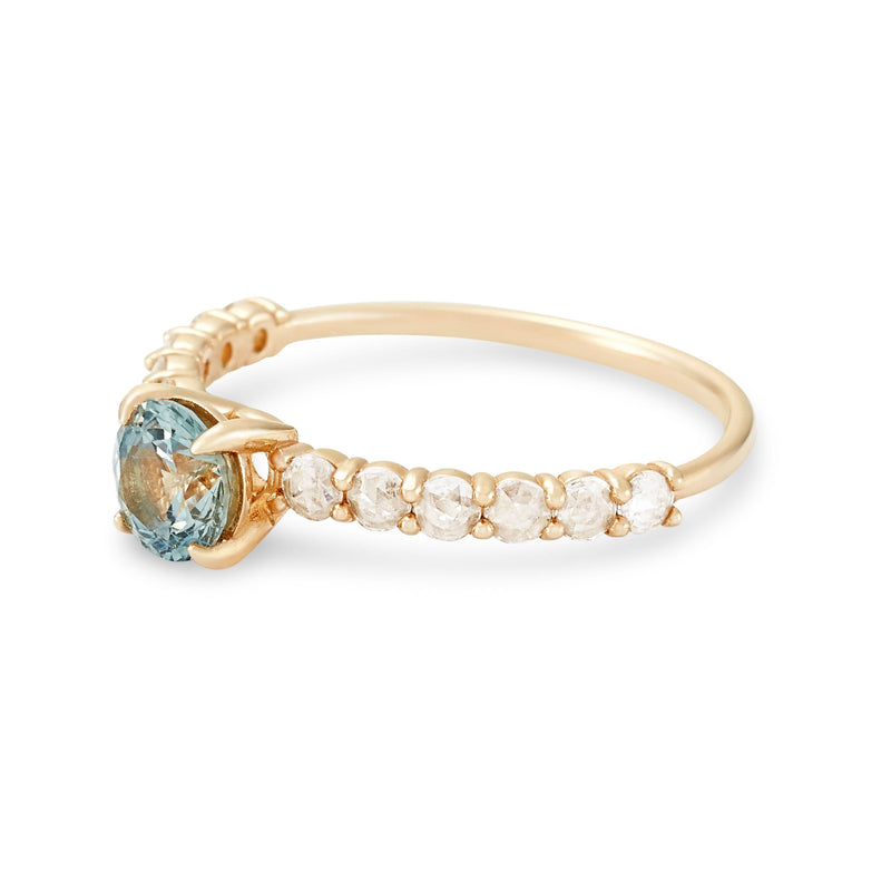 Blue Moon One Of A Kind - 14k Yellow Gold, Ice Blue Sapphire Ring