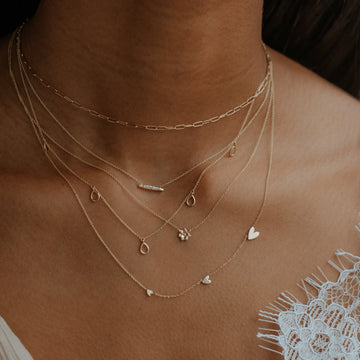 """infinite inseparable necklace 16"""" on body}"""